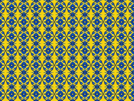 odd: Blue and Yellow odd shapes background pattern Stock Photo