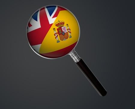 ENGLISH  SPANISH Stock Photo