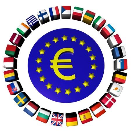 大陸ヨーロッパ EU 星とマップの...