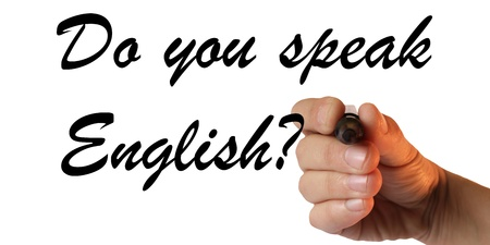 Do you speak English Reklamní fotografie