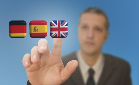 Select language Stock Photo