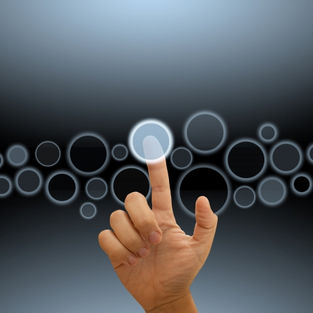 �cran tactile: L'�cran tactile Banque d'images