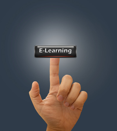 elearning: Finger Touch interactive button