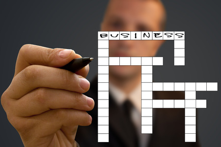 crosswords: Crossword  (Business). Stock Photo