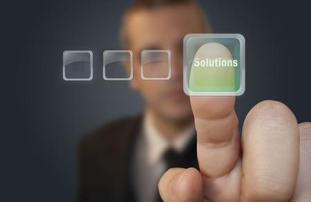 Stisk tlačítka řešení