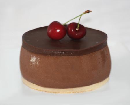 Chocolate and cherry dessert
