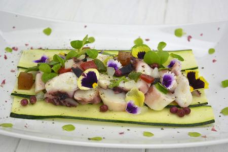 Octopus in vinaigrette Stock Photo