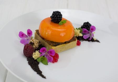 Semi sphere dessert
