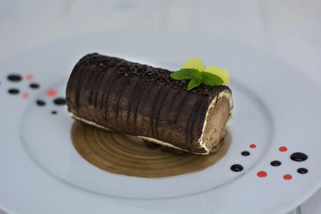 Chocolat náplň genoise Reklamní fotografie