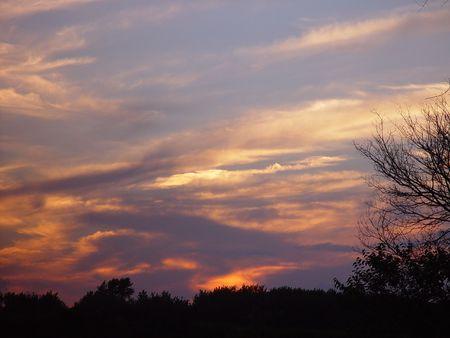 cloudy sunset Stok Fotoğraf