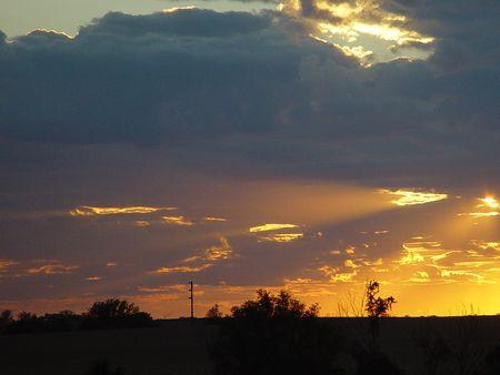 beaming sunset