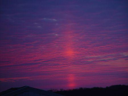 reflective sunrise