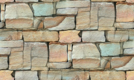 sand quarry: Stone Wall Stock Photo