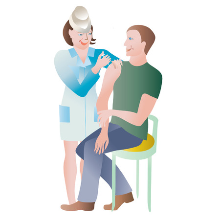 healt: Flue shot Illustration