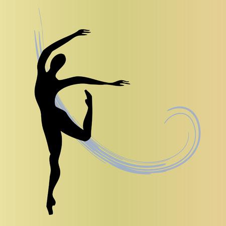 sillhouette: Balerina Illustration