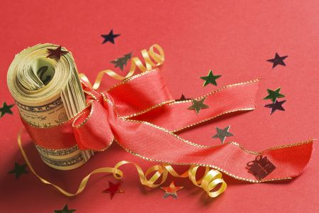 deserved: X-mas bonus - rolled american dollars