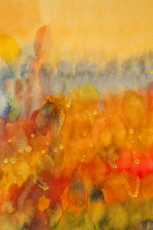 red blue yellow watercolor painting, my handwork
