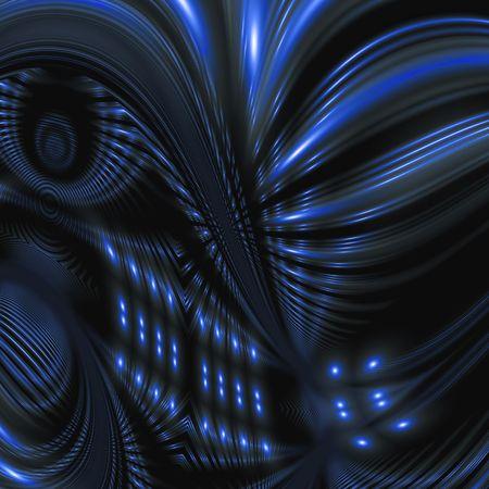 Abstract blackdrop.Blue metalic lights photo