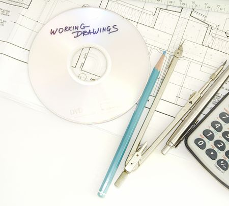 Working drawings fragment. Architecture. Stock Photo - 7128304