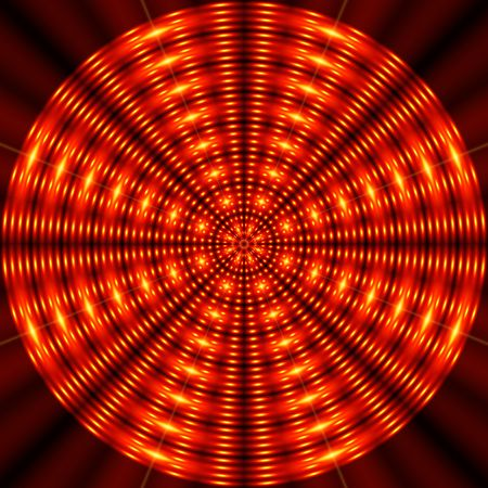 Rotating red circle. Optical effect. Stock Photo