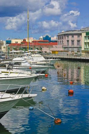 barbados: Bridgetown carenage. Barbados.