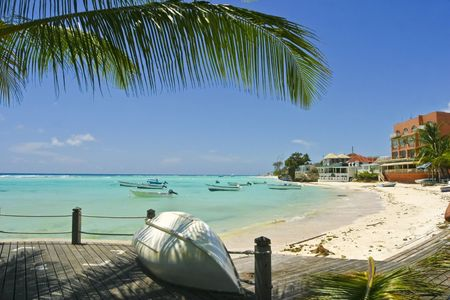 View at Low Gap bay. Barbados. Stock Photo