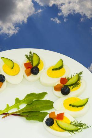 Eggs snack. Food. photo