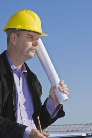 Architect at construction site 1 Stock Photo - 7136766