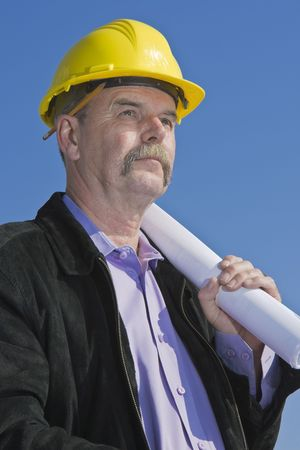 Architect at construction site 2 Stock Photo - 7136772