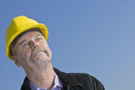 sceptical: Sceptical architect Stock Photo