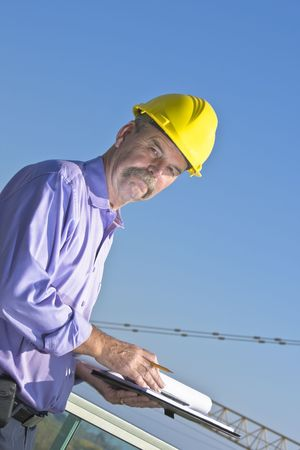 Architect is happy with construction work flow Stock Photo - 7136767