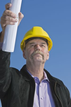 Architect pointing... photo