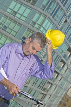 Architect solving problem Stock Photo - 7136777