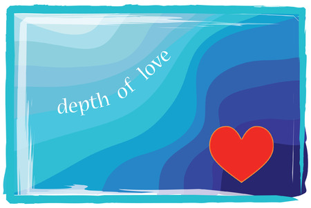 post: Depth of love post card or poster