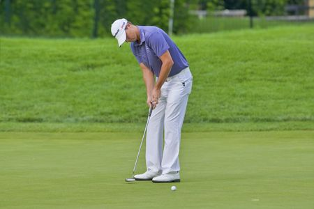 TORONTO, ONTARIO - JULY 21, 2010: U.S. golfer John Mallinger putts during a pro-am event at the RBC Canadian Open golf on July 21, 2010.