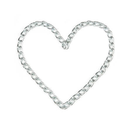 Metal chain heart