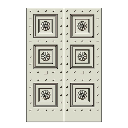 Door, Regency and early 19th century. Influenced by doors of the ancient.