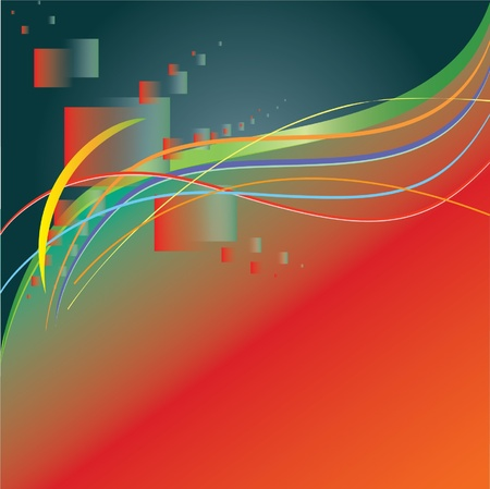 curve: Abstract christams colors contemporary backdrop