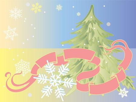 Christmas theme with cartouche for your text