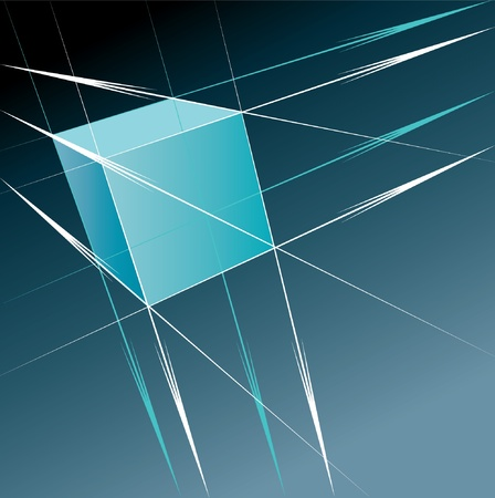 Cube with perspective Stock Vector - 10072008