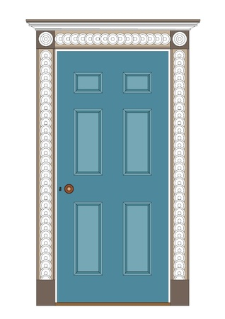 architrave: Ancient internal door, 1815  Regency and early 19th century  Modern paint  Illustration