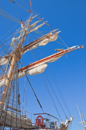 gaff: Sails and masts in perspective.