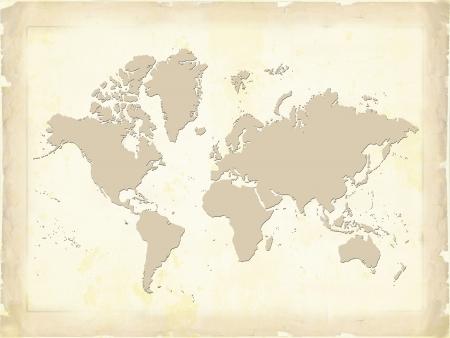flat earth: World Map