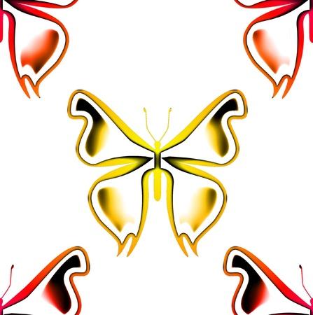 蝶のシームレス パターン 写真素材