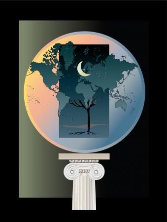 Globe concept Ilustração