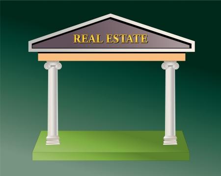 Real Estate business  Illustration Stock Vector - 17959856