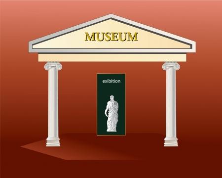 Museumgebouw Illustratie
