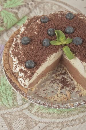 tort: Homemade French Silk chocolate musse pie.