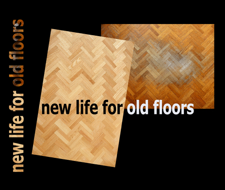 new life for old floors,  name for business front page with images