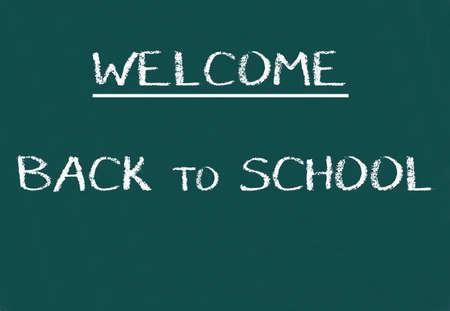 frase: Green school chalkboard with written sentence space
